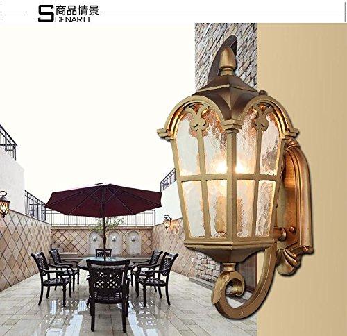 msy wall lamp nouveau continental wasserdichte outdoor wandleuchte f r outdoor innenhof balkon. Black Bedroom Furniture Sets. Home Design Ideas