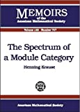 img - for The Spectrum of a Module Category (Memoirs of the American Mathematical Society) book / textbook / text book