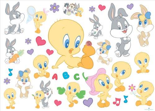 joy-toy-looney-tunes-000153-baby-sticker-per-la-parete-35-pezzi-50x18-cm