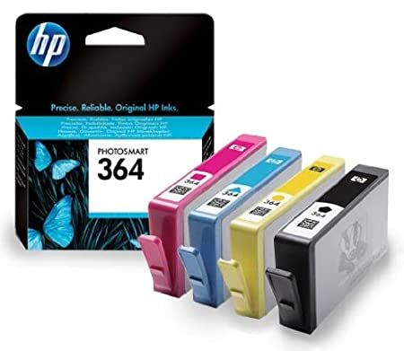 4 Cartouche d'encre pour Imprimante HP Photosmart 6520 - Cyan / Jaune / Magenta / Noir- Avec Puce