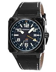 Torgoen Swiss Men's T26101 T26 GMT Black Ion-Plated Aviation Watch