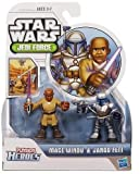 Hasbro Star Wars Jedi Force Playskool Heroes 2 Pack Mace Windu & Jango Fett