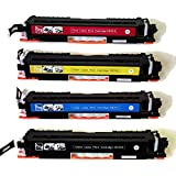 Compatible HP 126A Color CP1020, CP1025NW Toner E310A, CE311A, CE312A, CE313A Cartridges Combo - 4 Pack (BCMY)