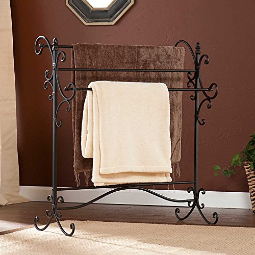 Metal Scroll Blanket Rack (Iron Quilt Stand compare prices)