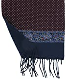 Mens Silk Scarf in Reversible Diamonds Print Navy - Mens Scarf