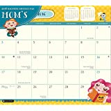 Orange Circle Studio 2016 Magnetic Monthly Calendar Pad, Mom's Do It All