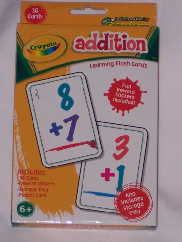 ADDITION Learning Flash Cards by Crayola - 1