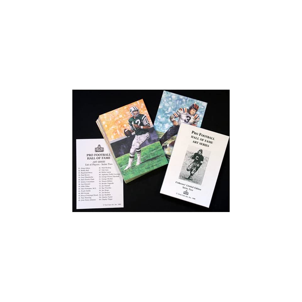 NFL Pro Football Hall of Fame Goal Line Art Cards Series 2