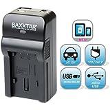 Baxxtar RAZER 600 Ladegerät 5 in 1 für Nikon EN-EL19 -- passend zu Nikon CoolPix A100 S33 S32 S7000 S6900 S6800 S6600 S6500 S6400 S5300 S5200 S2500 S3700 S3600 S3500 S3300 S3100 S2900 S2800 S2700 S2600 S4100 S4150 -- NEUHEIT mit Micro-USB Eingang und USB-Ausgang, zum gleichzeitigen Laden eines Drittgerätes (Kamera, iPhone, Tablet, Smartphone..usw.) !!