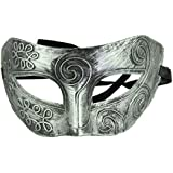 Alcoa Prime 1PC Silver Half Face Retro Roman Gladiator Halloween Party Facial Masquerade Mask Man Male Plastic...