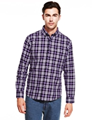 Pure Cotton Supersoft Large Checked Twill Shirt