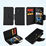 AceAbove HTC One M7 Case Wallet [Black] Protective & Stand Case for HTC One M7
