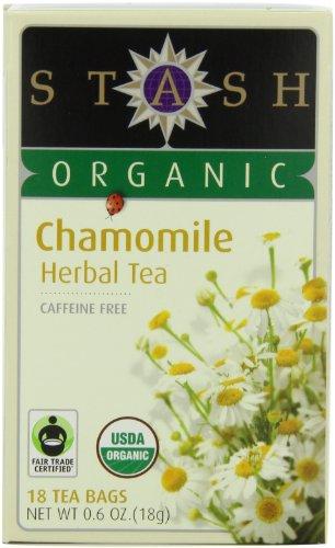 Stash Tea Organic Chamomile Herbal Tea, 18 Count Tea Bags In Foil (Pack Of 6)