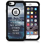 CorpCase iPhone 6 Case / iPhone 6S 4.7 Inch Case - Bible Verse Christian Quote Be Who God Wants You To Be / Hybrid Unique Case With Great Protection