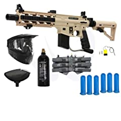 Buy Tippmann US Army Project Salvo Paintball Gun Player Package - Tan by Tippmann