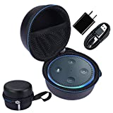 Travel Carry Pouch Sleeve Portable Protective Box Cover Bag Cover Case For Amazon Echo Dot and All-New Echo Dot (2nd Generation)- Extra Room for USB Cable and Wall Charger
