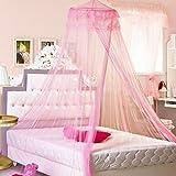 Redonda Dome gasa encaje bedclothes Mosquitera