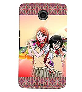 Fuson 3D Printed Girly Designer back case cover for LG Google Nexus 6 - D4148