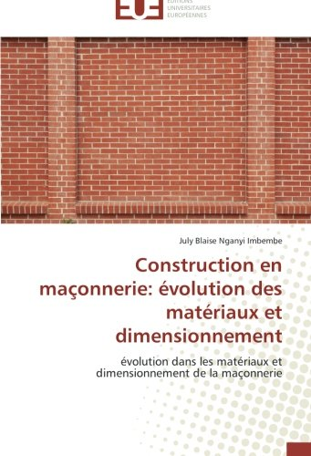 construction en maconnerie evolution des materiaux et dimensionnement evolutio ebay