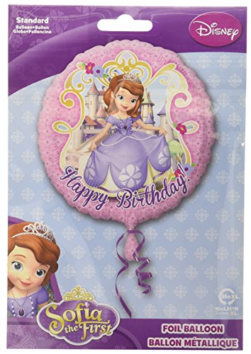 "18"" Sofia the First ""Happy Birthday"" Balloon Disney Junior Princess Girl Party - 1"