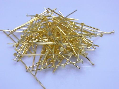 【金具】Tピン 0.7×32ミリ ゴールド 約100本