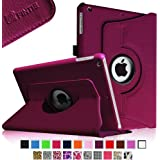 Fintie Apple iPad Air Case - 360 Degree Rotating Stand Case Cover with Auto Sleep / Wake Feature for iPad Air / iPad 5 (5th Generation) - Purple