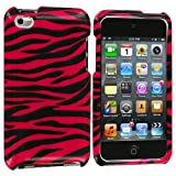 Black / Hot Pink Zebra Design Crystal Hard Skin Case Cover New for Apple Ipod Touch iTouch 4th Generation Gen 4g 4 8gb 32gb 64gb - Electromaster(TM) Brand