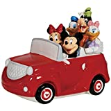 Westland Giftware Ceramic Cookie Jar, 8.5-Inch, Disney Mickey and Friends Road Trip