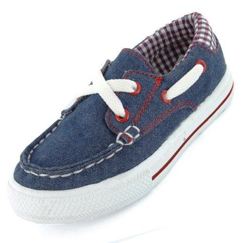 Goody 2 Shoes Crusader Boys Navy Boat Shoe