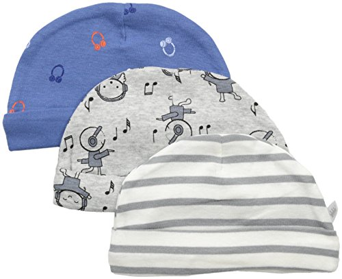 Rosie Pope Baby Hats 3 Pack, Blue Guitar, 3-6 Months