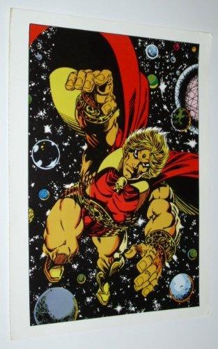 Adam Warlock 1970's Rare Vintage Original Marvel Comics Superhero 1978 Pin-Up Poster: Art by Jim Starlin (Marvel Universe Adam Warlock compare prices)