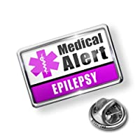 Pin Medical Alert Purple Epilepsy - Lapel Badge - NEONBLOND by NEONBLOND