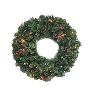 NOMA/INLITEN-IMPORT 60091-88 24-Inch Multi Light Wreath