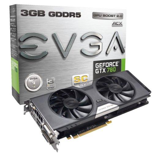 EVGA GeForce GTX780 SuperClocked w/EVGA ACX Cooler 3GB GDDR5 384bit, DVI-I, DVI-D, HDMI,DP, SLI Ready (03G-P4-2784-KR) (Gtx 780 Ti Sc compare prices)