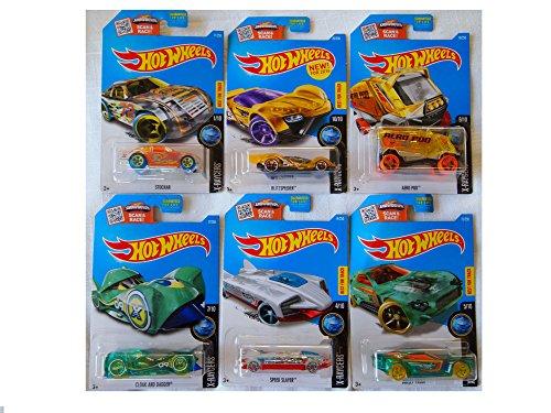[New Hot Wheels Toy Car Custom Bundle of 6 X-Raycers] (Batmobile Stroller Costume)