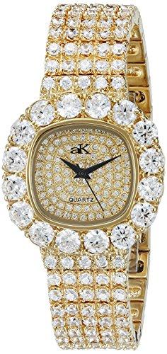 Adee Kaye Bijou ak26-LG/CR 32.5x38.7mm Brass Case Brass Mineral Women's Watch