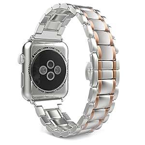 moko Apple Watch Band, MoKo Stainless Steel Metal Replacement Smart Watch Strap Bracelet for Apple Watch 42mm All M