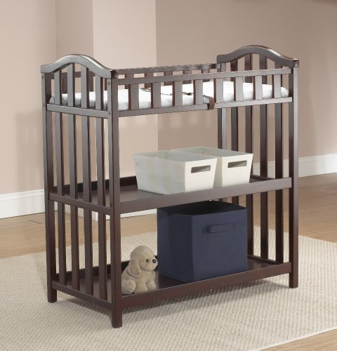 Sorelle Lynn Changing Table, Merlot (Discontinued by Manufacturer) - 1