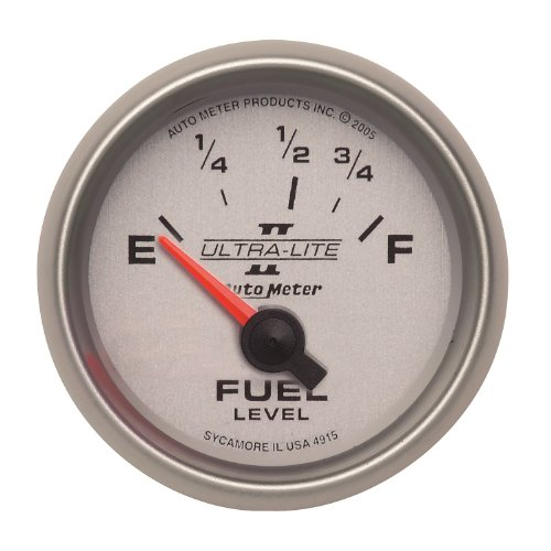 """Auto Meter 4915 Ultra-Lite Ii 2-1/16"""" 73-10 Ohms Short Sweep Electric Fuel Level Gauge For Ford"""