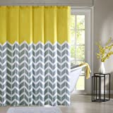 Intelligent Design Nadia Shower Curtain - Yellow - 72x72""