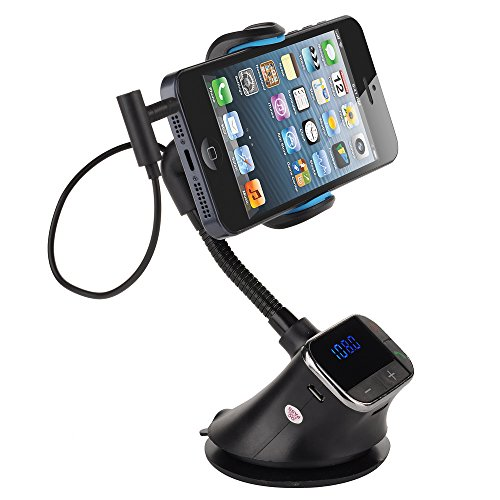 Victsing Smart Holder Hands-Free Car Kit, Charger, Mp3, Fm Transmitter For Iphone 5S 5C 5 4S 4 Samsung Galaxy S5 S4 S3 S2 Note 3 2 Htc One M8 M7 Sony Xperia Smartphones