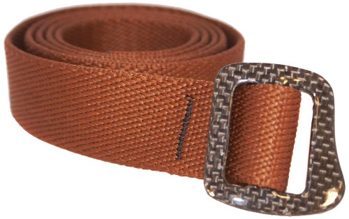 Bison Designs 30Mm Carbonator Web Belt With 100-Percent Carbon Fiber Buckle (Chocolate Brown, 38-Inch Maximum Waist/Medium)