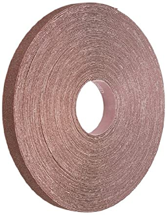 "Norton K225 Metalite Abrasive Roll, Cloth Backing, Aluminum Oxide, 1"" Width x 50 yds Length, Grit P40 (Pack of 1)"