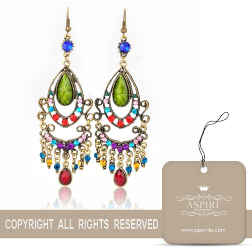 Aspire Brass Tone Tribal Drop Earrings, Gift Ideas, Christmas Gift 2012
