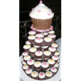 5 Tier 5mm Thick Mirror Acrylic Cup Cake Cupcake Stand by Classikoolby Cakestandz