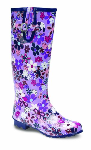 LADIES / GIRLS FLORAL DESIGN WELLIES, GREAT FOR FESTIVALS, CAMPING ETC.