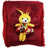 Tickles Red Rabbit School Sling Bag Stuffed Soft Plush Toy 27 Cm