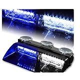 ZHOL® 16-led 18 Flashing Mode Car Emergency Vehicle Dash Warning Strobe Flash Light Blue (White)