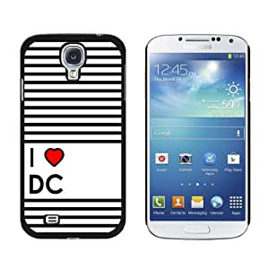 Graphics and More I Love Heart DC-Washington Snap-On Hard Protective Case for Samsung Galaxy S4 - Non-Retail Packaging - Black