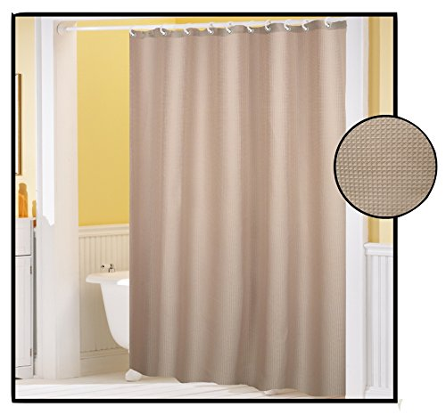 Royal Bath Waffle Weave Textured Fabric Shower Curtain with Metal Grommets (70